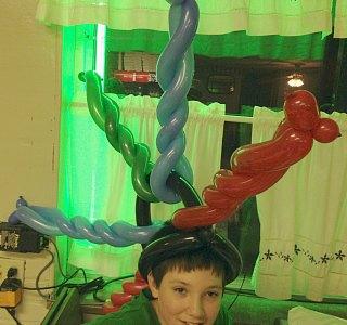 Crazy Fun Balloon Hat