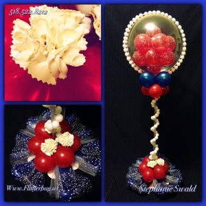 Balloon Centerpiece with Balloon Carnations