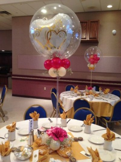 50th Anniversary Balloon Centerpieces