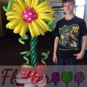 Large Balloon Flower Column