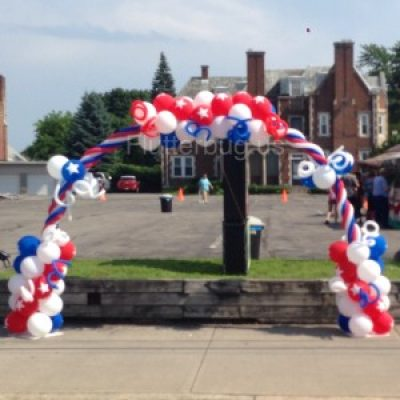 Patriotic Balloon Arch Albany