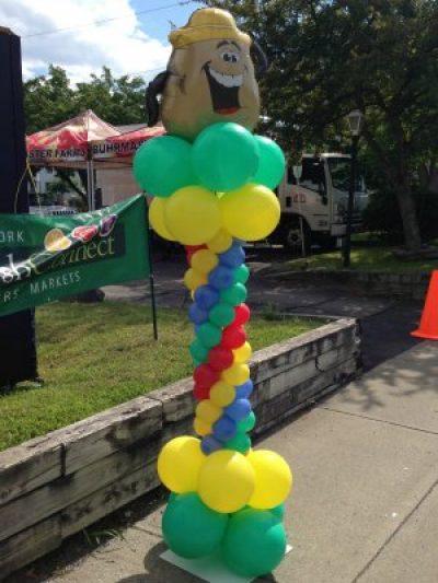 Mr. Potato head balloon column