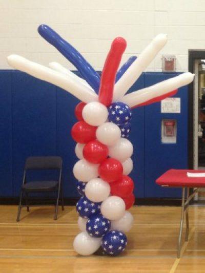 Patriotic Funky Balloon Column