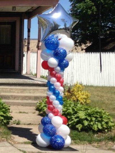 Patriotic Star Balloon Column