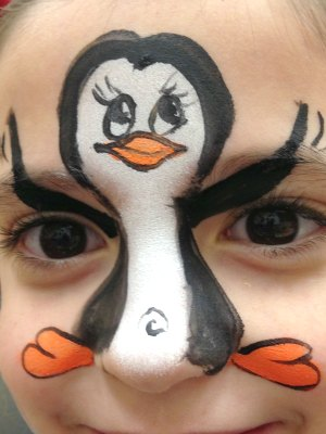 Penguin Face Painting