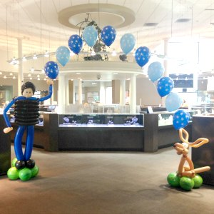 Police Officer String of Pearl Balloon Arch