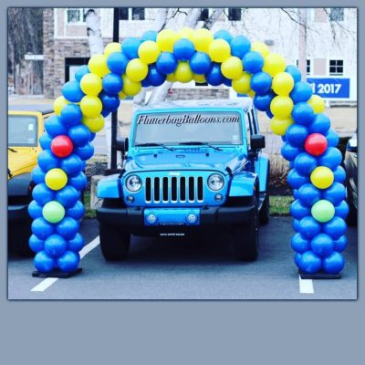 Car showroom balloon arch