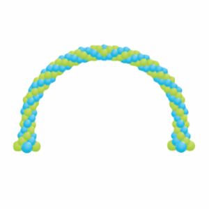 20 linear feet balloon arch