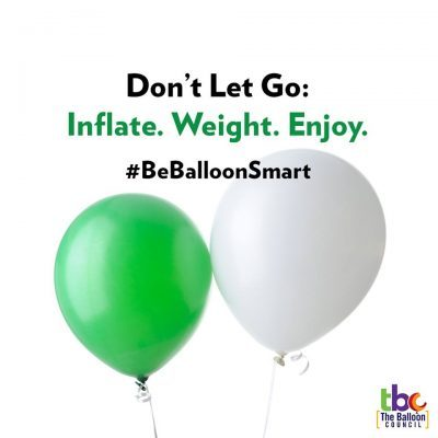 Keep balloons on their weight.
