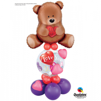Bear love Bubble design