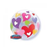 Colorful Hearts Bubble