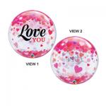 Confetti Hearts Love Bubble