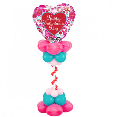 Colorful Heart Centerpiece