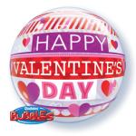 Striped Valentine's Day Bubble