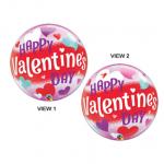Colorful Heart Valentine Bubble