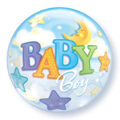 Baby Boy Qualatex Bubble