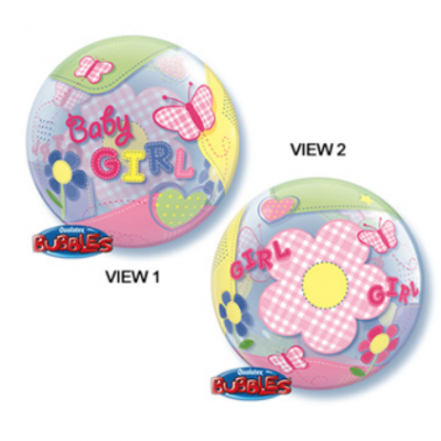 Baby Girl Patchwork Butterfly Bubble Balloon