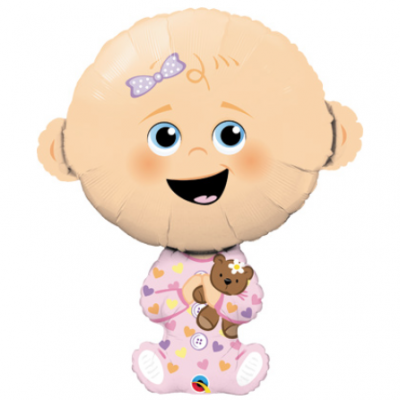 Large Baby Girl Balloon