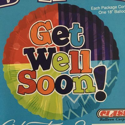 colorful Four color Get Well Soon Balloon