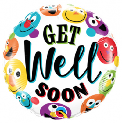 Colorful Smiley Faces Get Well Soon