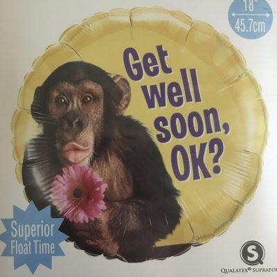 Monkey Feel Better Soon Kisses