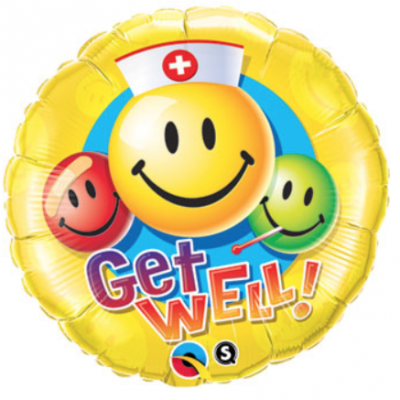 Colorful Smiley Faces Nurse Get Well