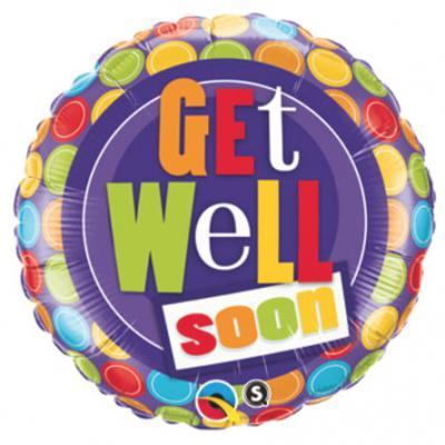 Purple Polka Dot Get Well Soon
