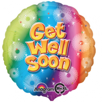 Rainbow Sparkle Flower Get Well Soon