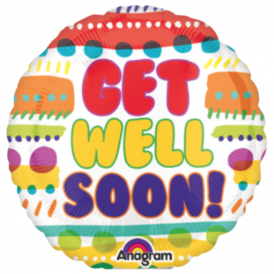 Colorful Stripes and Dots Get Well Soon