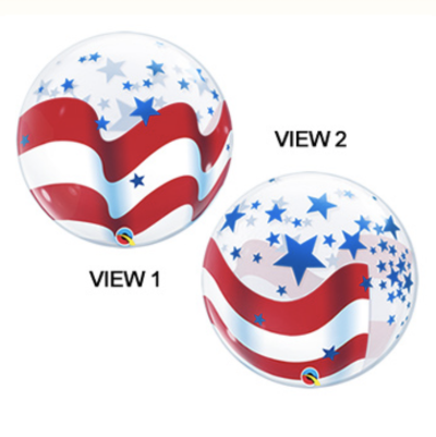 Patriotic Bubble Balloon