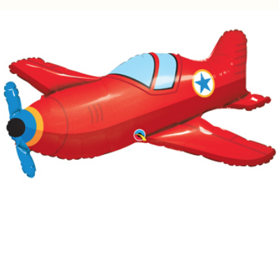 Red Airplane Shape